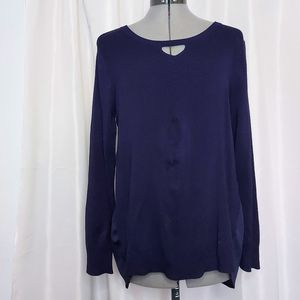 One A Blue Knit Long Sleeve Size M